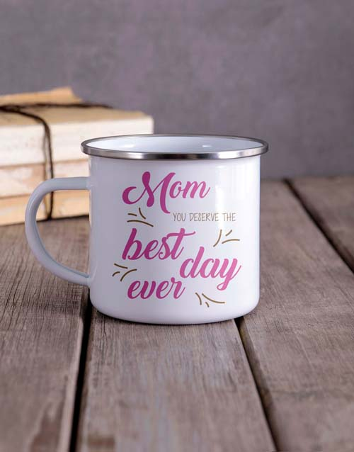 mothers-day: Personalised Deserve the Best Camper Mug!
