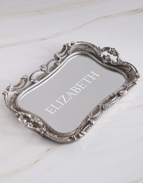 mothers-day: Personalised Vintage Mirror Vanity Tray!
