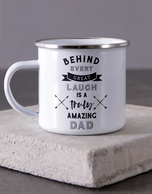 mothers-day: Personalised Truly Amazing Dad Camper Mug!