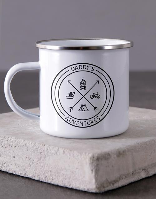 anniversary: Personalised Adventures Of Dad Camper Mug !