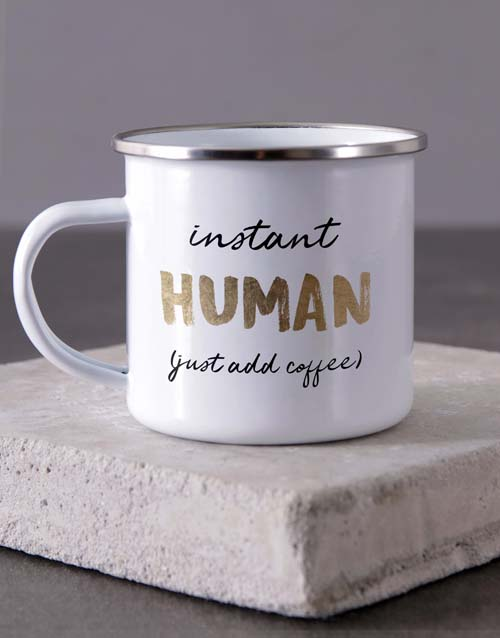 homeware: Personalised Instant Human Camper Mug!