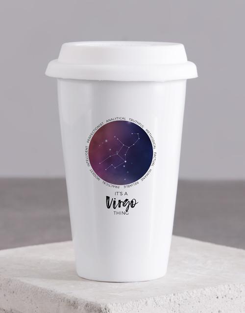 personalised: Personalised Star Sign Ceramic Travel Mug!