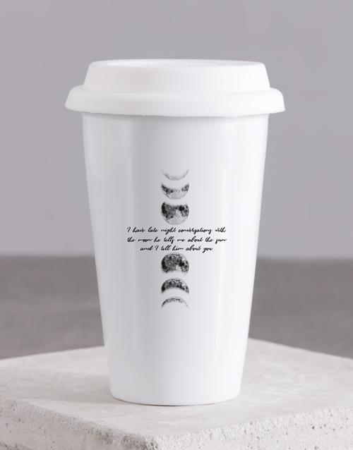 personalised: Personalised Moon Ceramic Travel Mug!