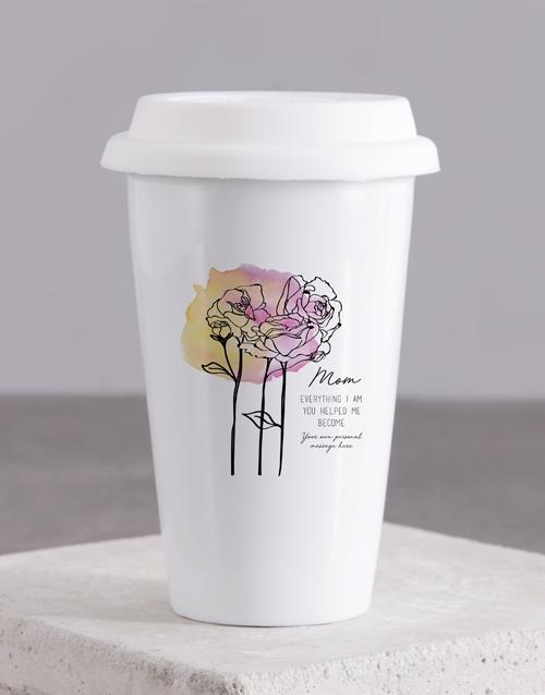 mothers-day: Personalised Mom Ceramic Travel Mug!