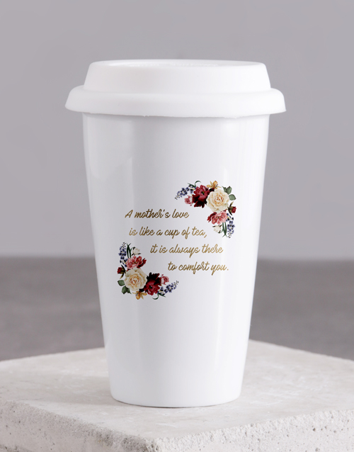 mothers-day: Personalised Love Of Mother Ceramic Travel Mug!