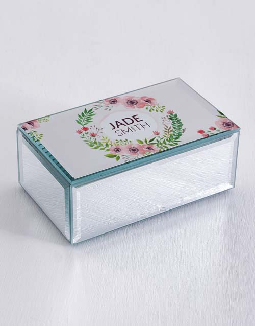 apparel: Personalised Floral Wonder Trinket Box!