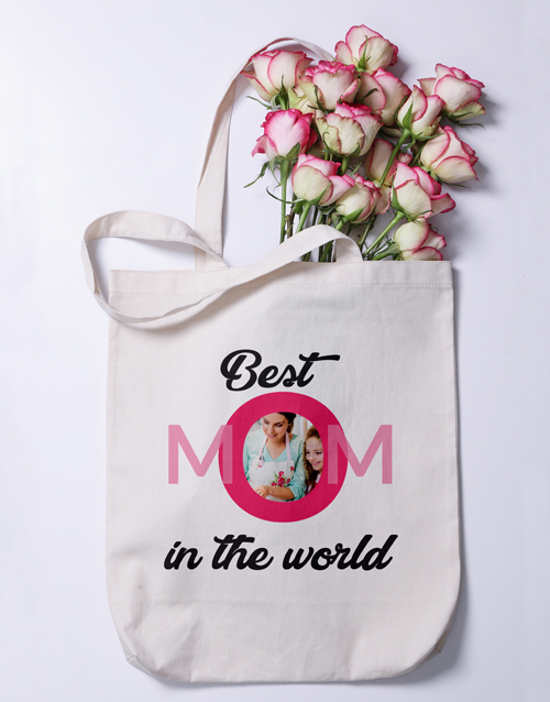 mothers-day: Personalised Best Mom Photo Tote Bag!