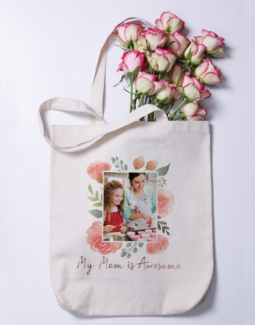 mothers-day: Personalised Photo MOM Tote Bag!