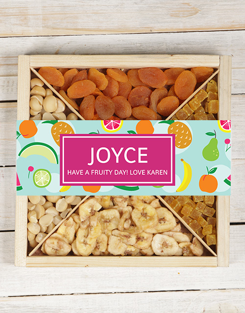 easter: Personalised Mixed Fruit And Nut Tray!