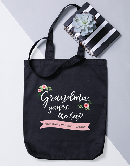 mothers-day: Personalised Best Gran Tote Bag!