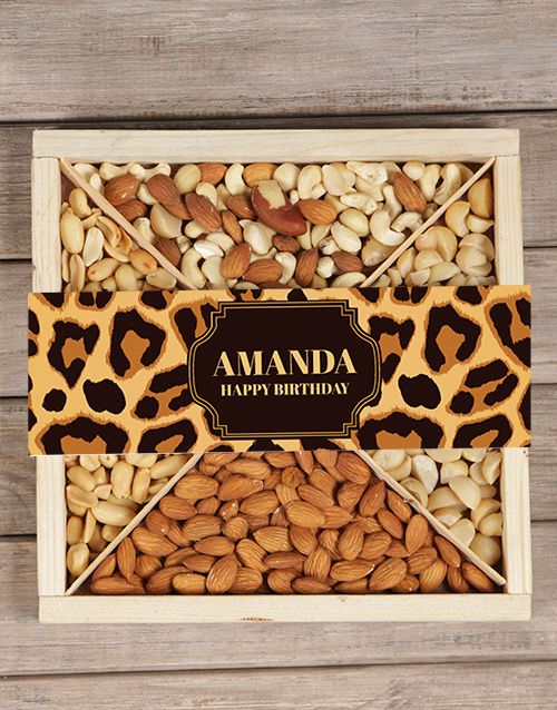 corporate: Personalised Leopard Nut Tray!