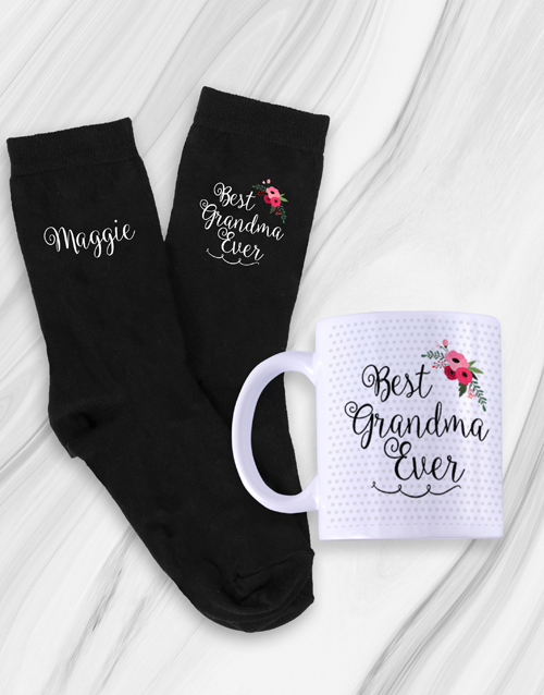 new-years: Personalised Grandma Socks & Mug!
