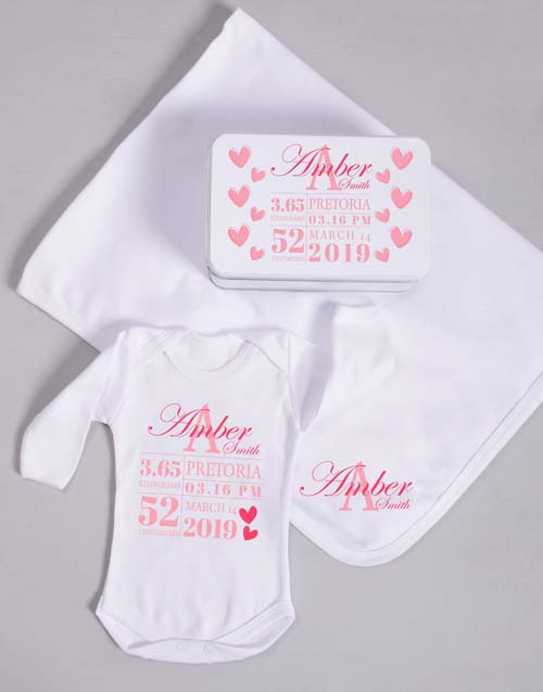 baby: Personalised Baby Girl Birth Gift!