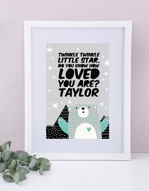 personalised: Personalised Framed Loved Print!
