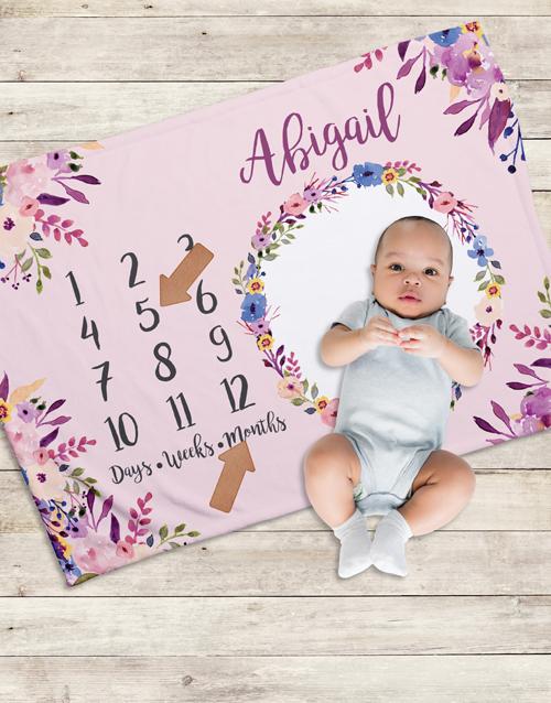 apparel: Personalised Floral Milestone Blanket!