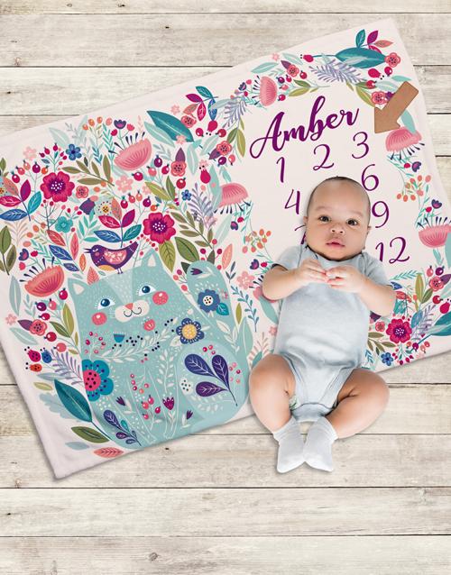 apparel: Personalised Garden Milestone Blanket!