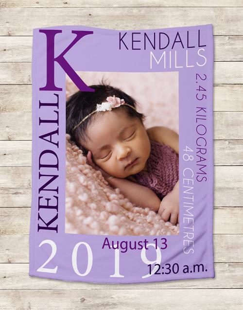 apparel: Personalised Baby Girl Birth Blanket!
