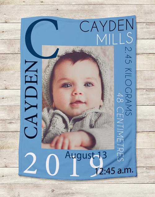 apparel: Personalised Baby Boy Birth Blanket!