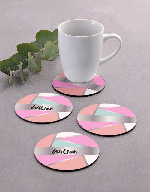 house-warming: Personalised Shapes Coaster Set!