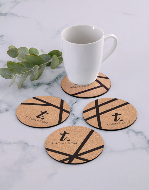 personalised: Personalised Patterned Coaster Set!
