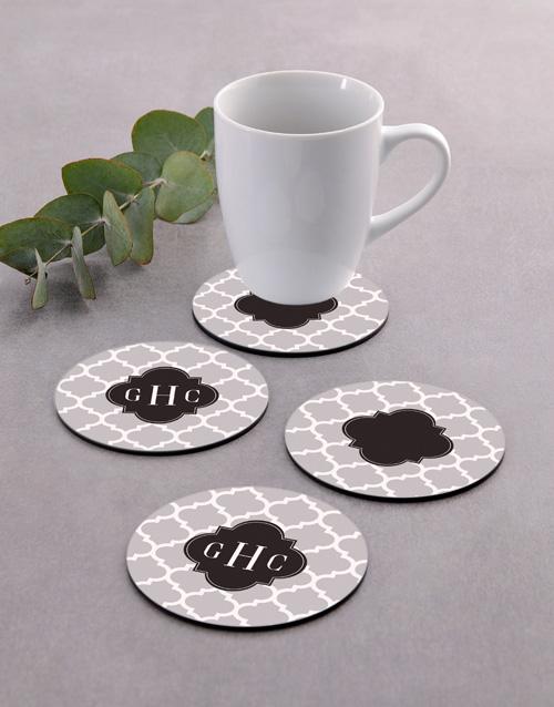 house-warming: Personalised Monogram Coaster Set!