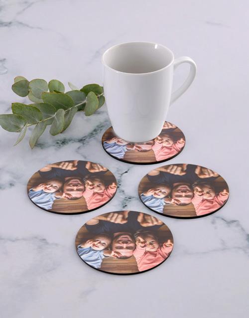 house-warming: Personalised Photo Upload Coaster Set!