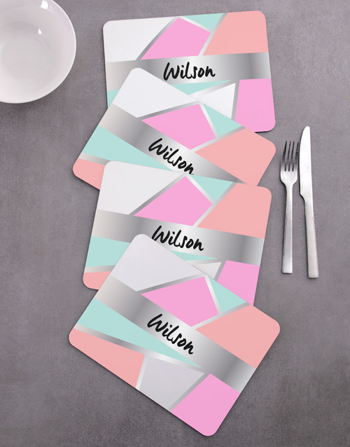 personalised: Personalised Shapes Placemat Set!