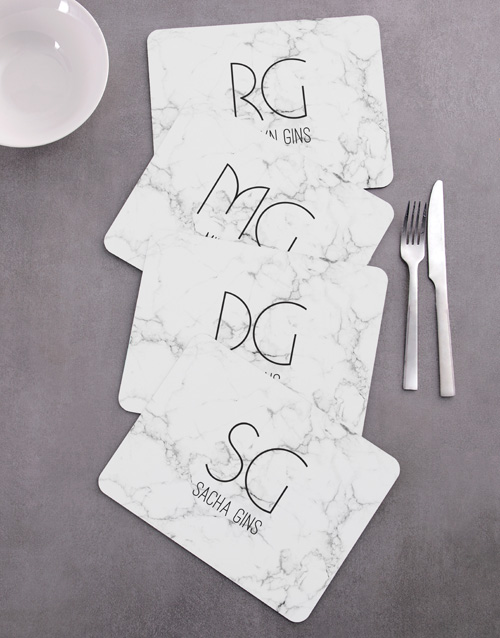 mothers-day: Personalised Marble Placemat Set!