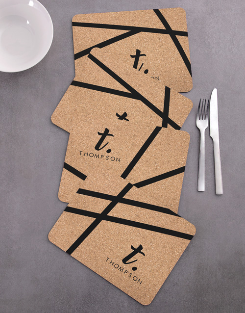 house-warming: Personalised Patterned Placemat Set !