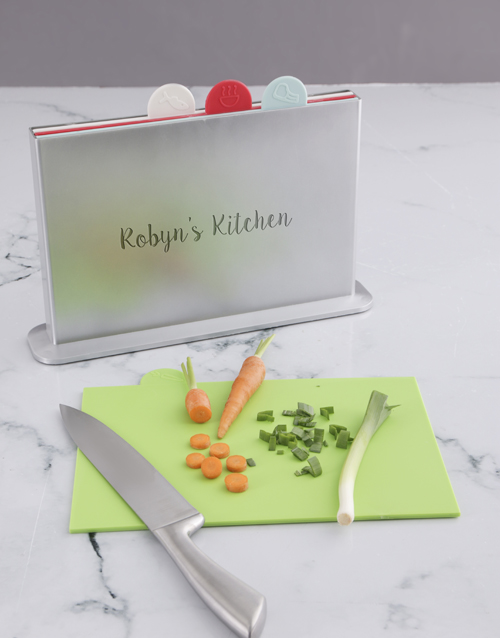 personalised: Personalised Kitchen Divided Chopping Board!