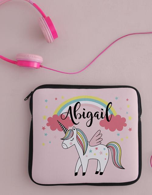 kids: Personalised Neoprene Unicorn Tablet Cover!
