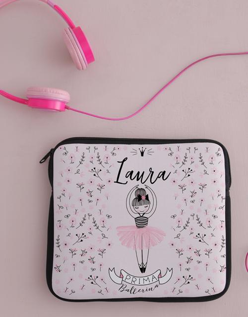 kids: Personalised Neoprene Ballerina Tablet Cover!