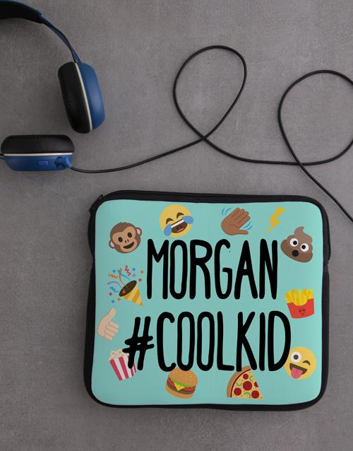 kids: Personalised Neoprene Emoji Tablet Cover!