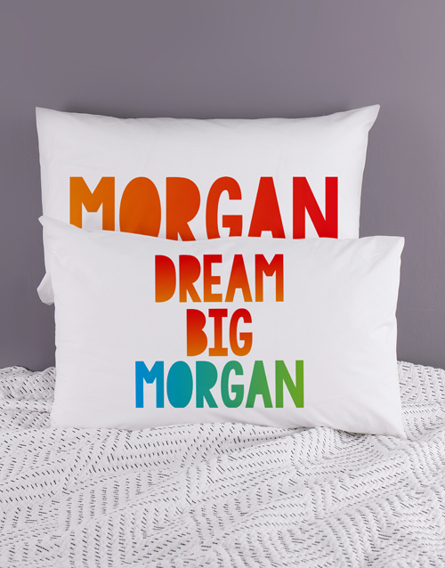 kids: Personalised Dream Pillow Case Set!