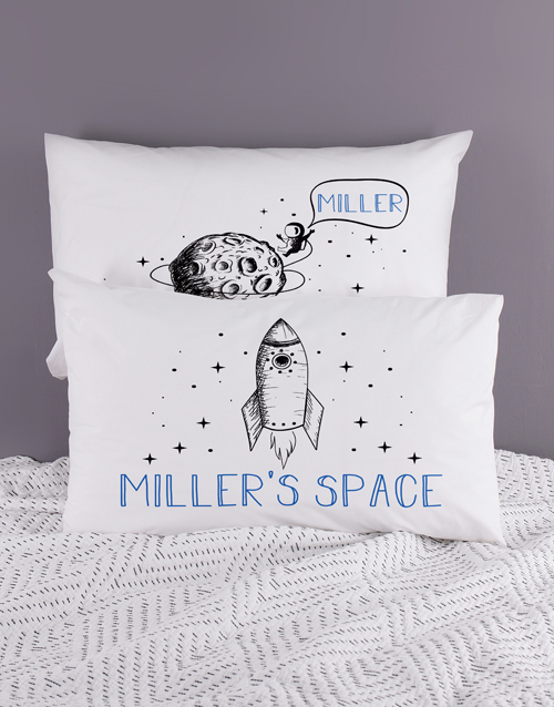 personalised: Personalised Space Pillow Case Set!