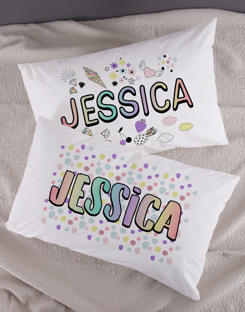 kids: Personalised Badges Pillow Case Set!