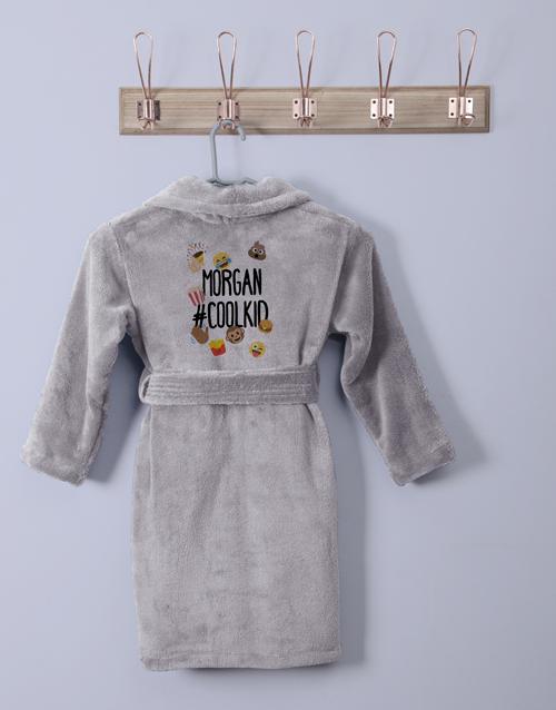 kids: Personalised Emoji Pack Fleece Gown!
