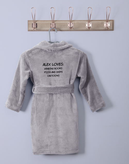 bath-and-body: Personalised Favourites Grey Fleece Gown!