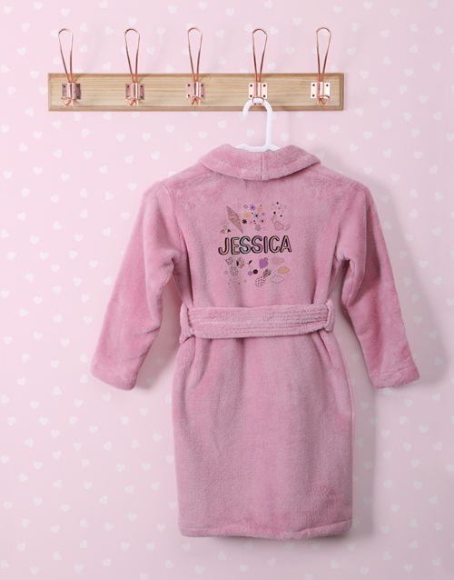 personalised: Personalised Icons Fleece Gown!