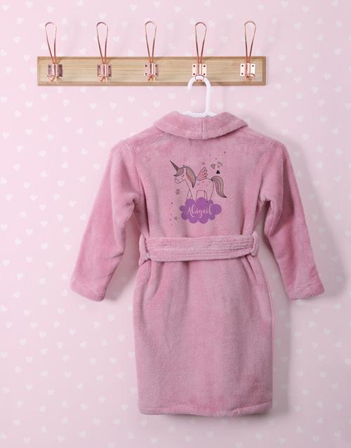 kids: Personalised Unicorn Sparkle Fleece Gown!