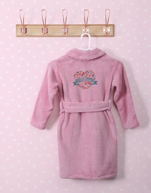 personalised: Personalised Floral Heart Fleece Gown!