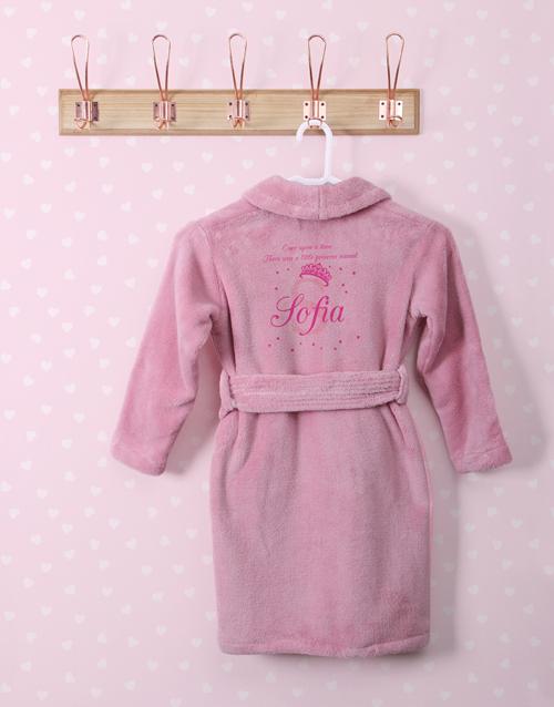 personalised: Personalised Princess Pink Fleece Gown!