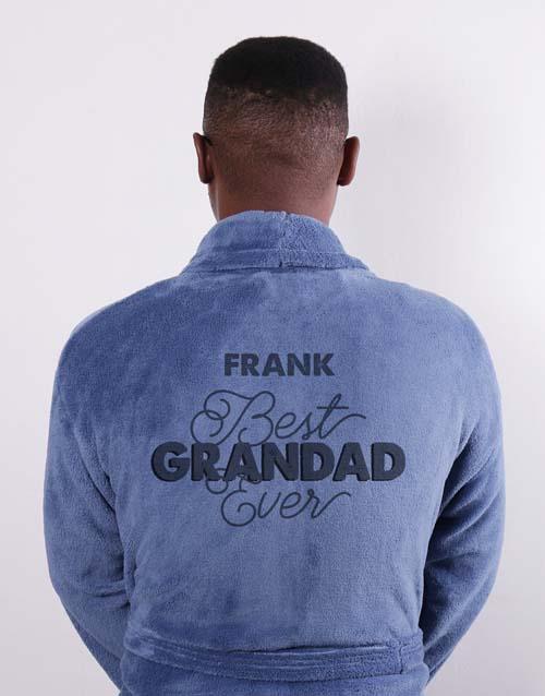 personalised: Personalised Best Grandad Blue Gown!
