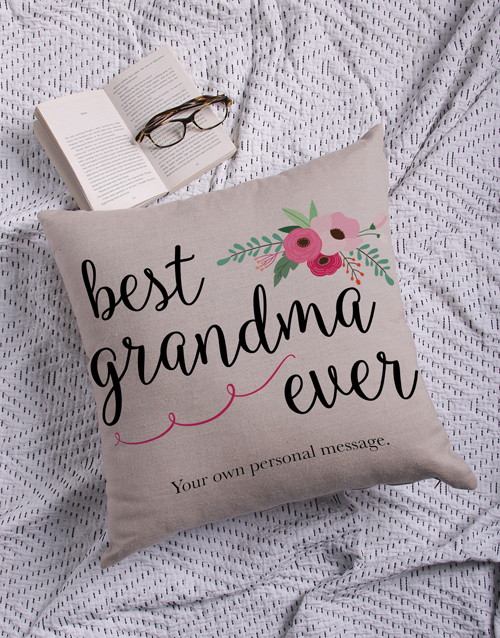 gifts: Personalised Best Gran Scatter Cushion!