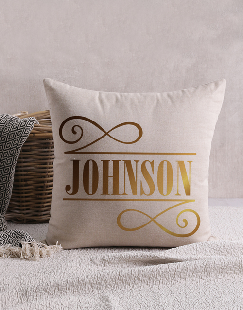 christmas: Personalised Gold Foil Initial Scatter Cushion!
