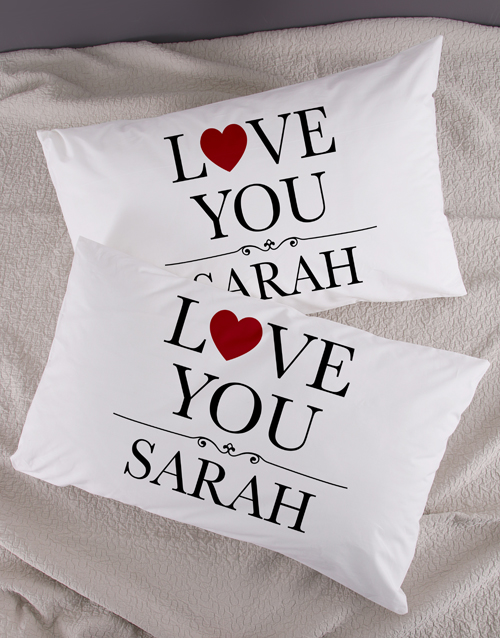christmas: Personalised Love You Pillowcase Set!