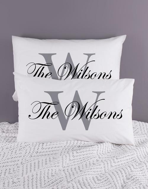 christmas: Personalised Family Name Pillowcase Set!