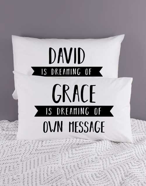 gifts: Personalised Dreaming Pillowcase Set!