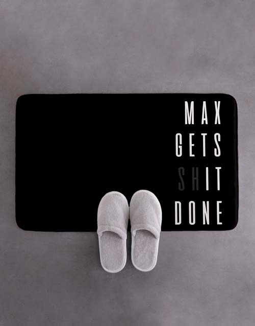 christmas: Personalised Gets It Done Bath Mat!
