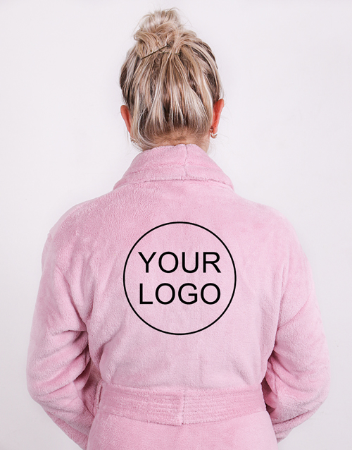 teachers-day: Personalised Own Logo Vintage Pink Fleece Gown!